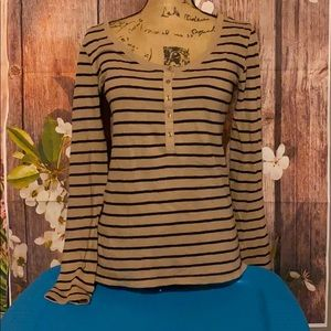14th & Union size small tan and black long sleeve